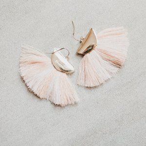 Baublebar Carnaval Tassel Earrings, Blush
